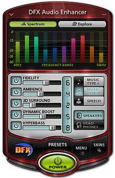 DFX Audio Enhancer - модный дизайн :)