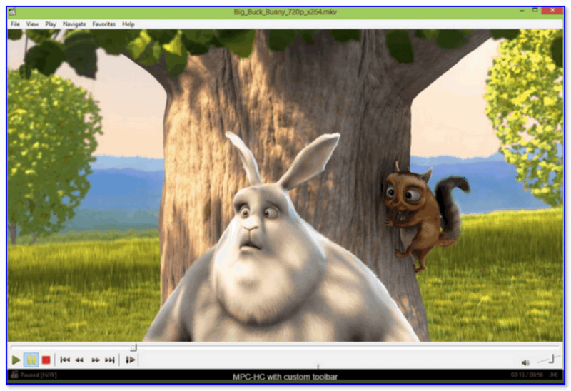 Media Player Classic - просмотр мультика