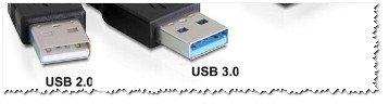 Разница между USB 2.0 и USB3.0 (помечен синим цветом)