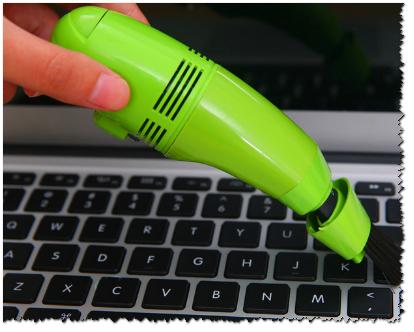 Специальный USB-пылесос для чистки клавиатуры