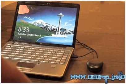 Мышь для проверки подключена к ноутбуку
