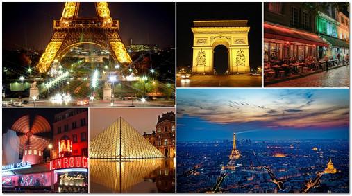 Пример коллажа - поездка в Париж