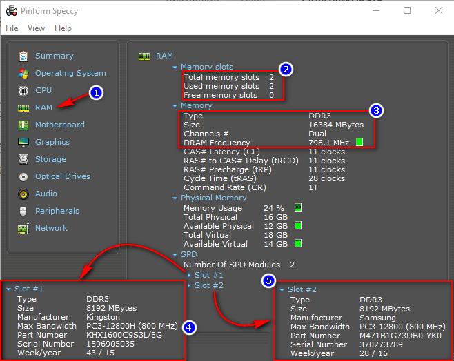 Speccy - тип и объем оперативной памяти