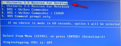 Victoria 3.5 для компьютера (вариант загрузки)