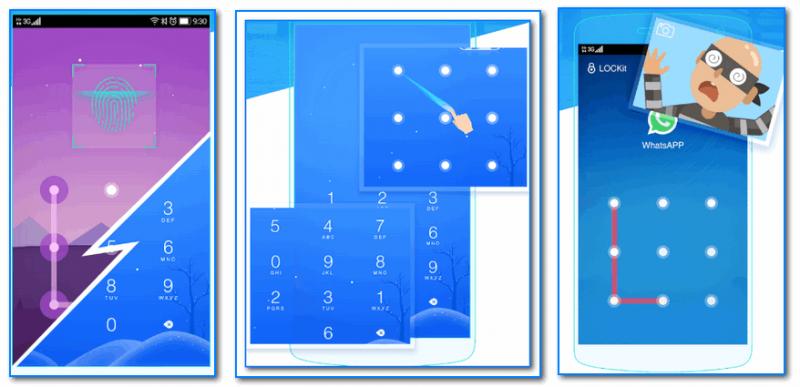 LOCKit - скрины работы приложения (от разработчиков)