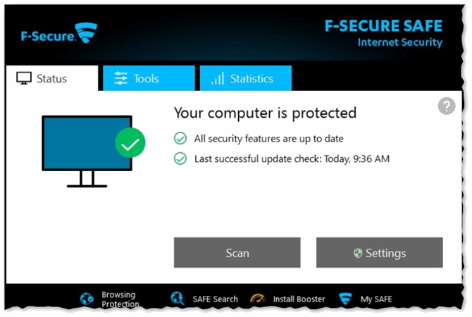 F-Secure Safe - ваш ПК надежно защищен