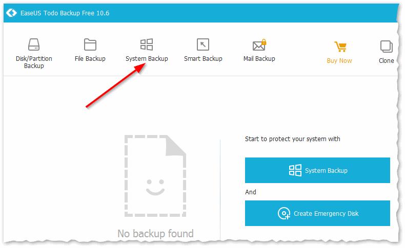 EaseUS Todo Backup: делаем бэкап системмного диска