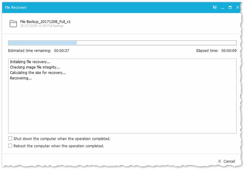 File Recovery - процесс восстановления