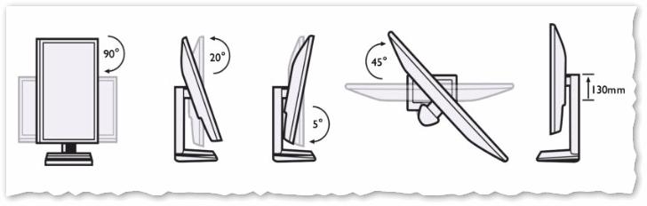 Различные конструкции крепления и установки монитора