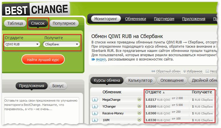 Вывод QIWI RUB на карту Сбербанка – где выгоднее обменять_
