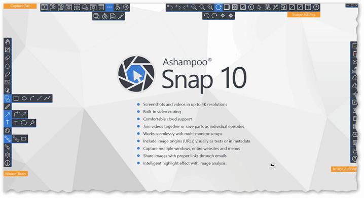 Ashampoo Snap - целый комбайн по создания скриншотов и захвату видео с рабочего стола