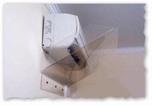 Пример козырька для кондиционера, чтобы не дул холодный воздух прямо на вас // Такой же можно сделать из картона