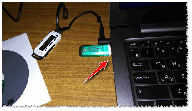 Подключаем флешку к USB 3.1 порту