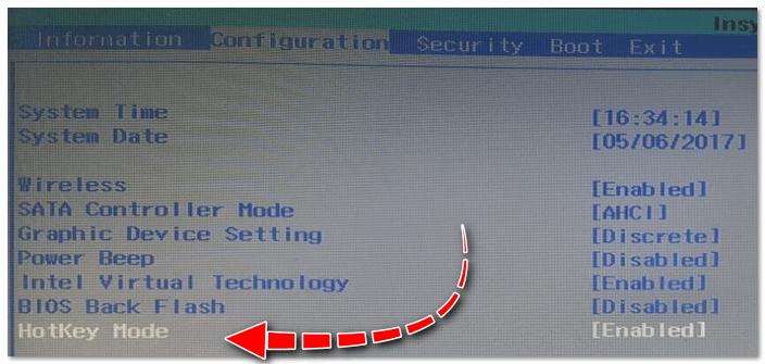 Hotkey Mode - измененный режим работы клавиш F1-F12