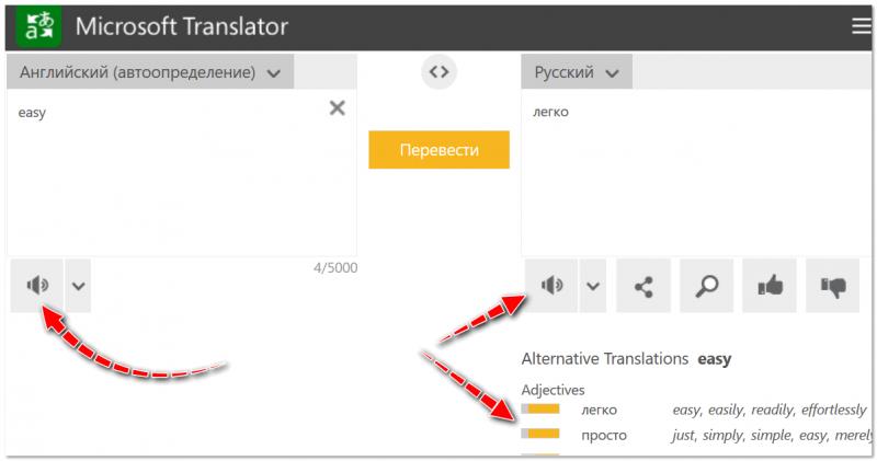Microsoft Translator - переводчик на серверах Bing