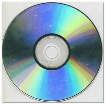 На поверхности диска заметны царапины