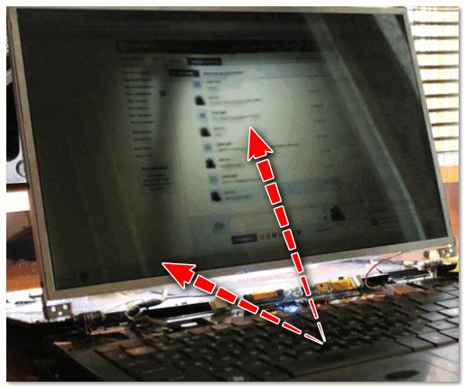 Сгорела подсветка экрана - изображение видно только при свечении настольной лампы на поверхность монитора