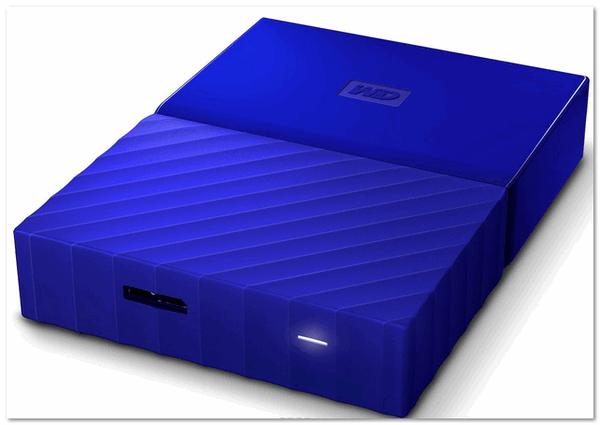 WD My Passport 1TB, Blue внешний жесткий диск