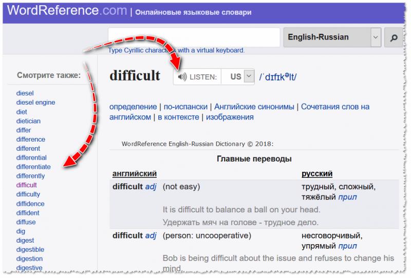 wordreference.com - перевод, похожие слова, синонимы и пр.