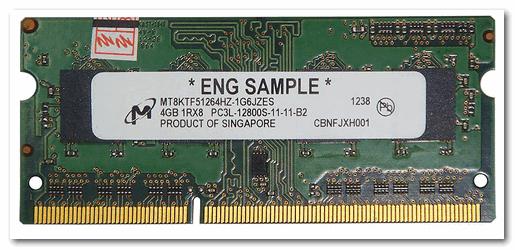 A1278 A1286 DDR3 SODIMM 4Гб