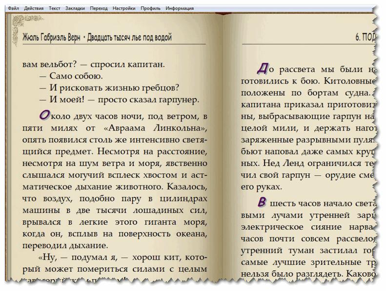 AL Reader - вид практически как у открытой книги