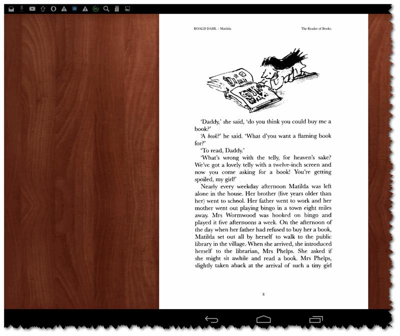FullReader+ - пример открытой книги