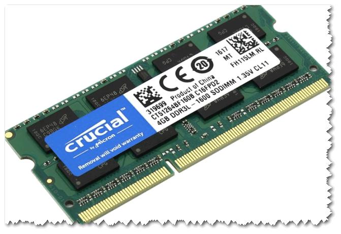 Как выглядит планка памяти 4GB DDR3L 1600 SODIMM
