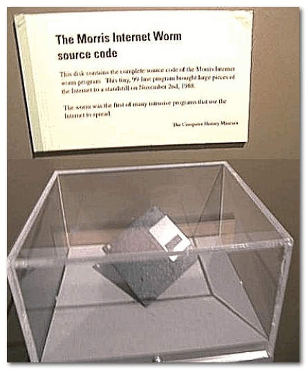 Дискета с исходным кодом червя Морриса