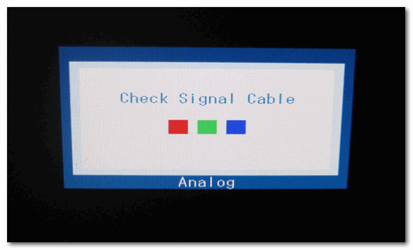Не подключен кабель (Chesk Signal Cable)