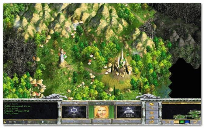Age of Wonders Shadow Magic - скрин из главного окна игры