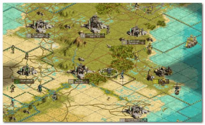Civilization III - карта местности