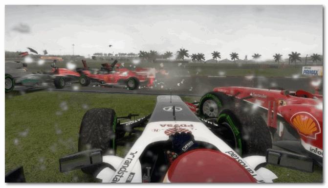F1 2013 - легкий занос на трассе...