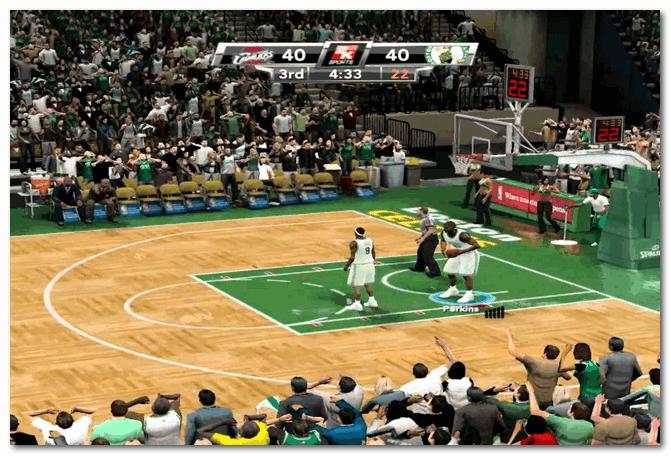NBA 2K9 - напряженная борьба...