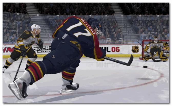 NHL 06 - удар...