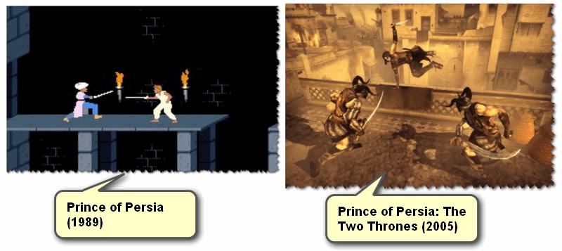 Несколько скринов из игр Prince of Persia