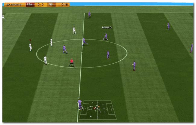 Скрин из игры FIFA 08