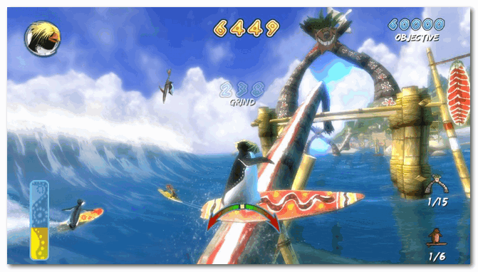 Скрин из игры Surf's Up