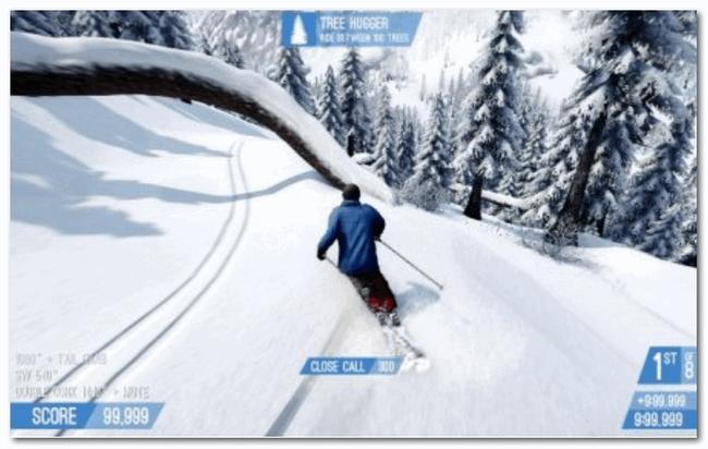 Snow (2013) - спуск с горы на лыжах