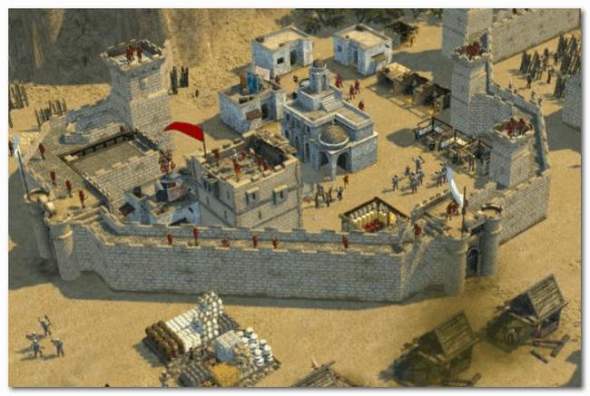 Stronghold Crusader - строим средневековый город