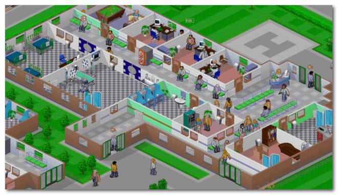 Theme Hospital - игра на приставке Sony Playstation
