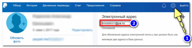 Как узнать мой e-mail в PayPal