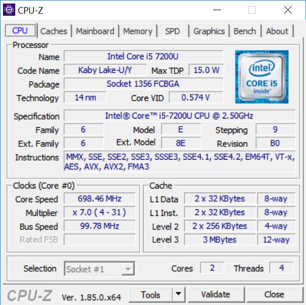 CPU-Z подробная информация о ЦП