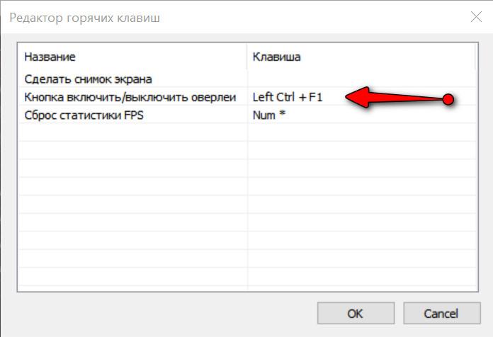 Редактор горячих клавиш / FPS Monitor