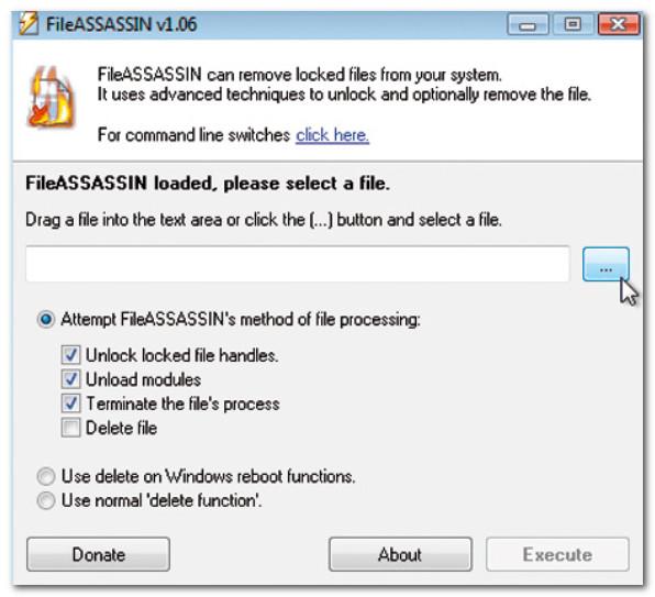 FileASSASSIN - главное окно