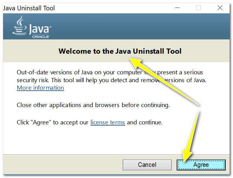 Java Uninstal Tool
