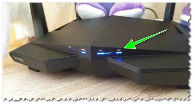 Роутер Tenda. Индикатор, отвечающий за работу Wi-Fi (WLAN)