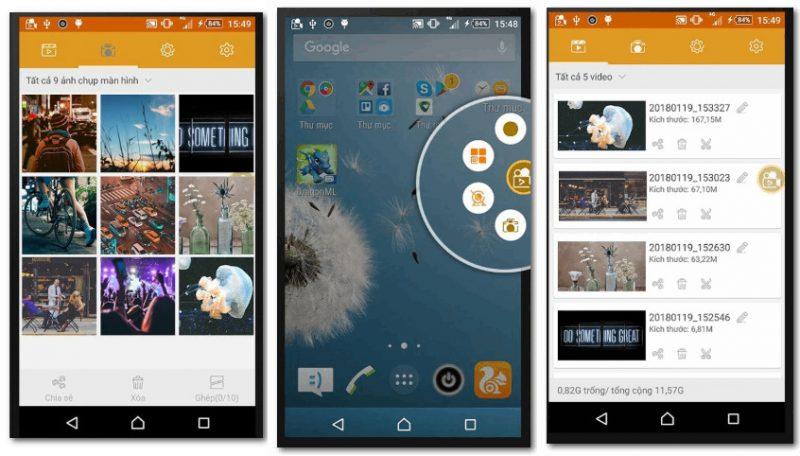 Скрины из приложения Screen Recorder Pro - Rec Screen