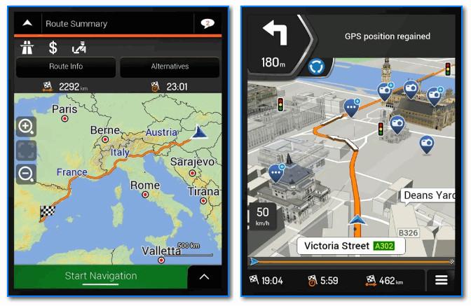 iGO Navigation - навигация по все Европе! Скрины от разработчиков