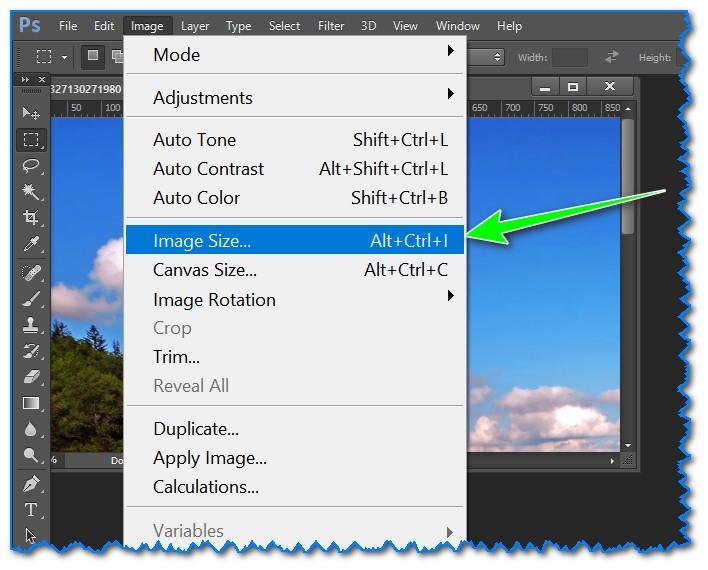 Image Size - изменить размер файла