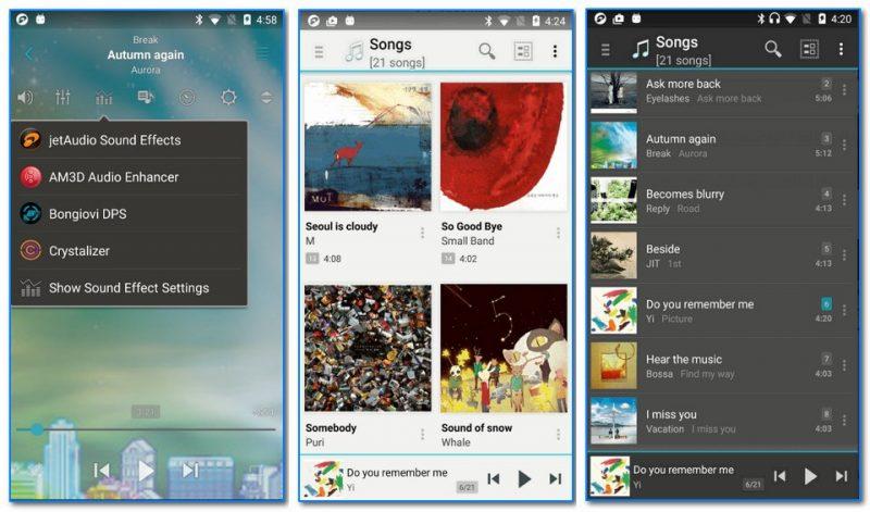 JetAudio - скрины проигрывателя (от разработчика)